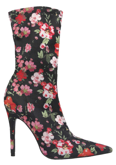 Therapy Sarita Stretch Lycra Stiletto Boots in Floral - Hey Sara