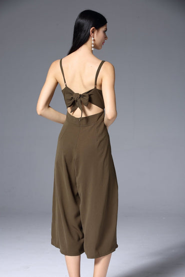 Worthier Elle Jumpsuit in Khaki - Hey Sara
