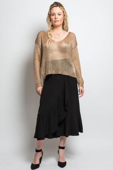 Worthier Sparkle Jumper in Gold - One Size - Hey Sara