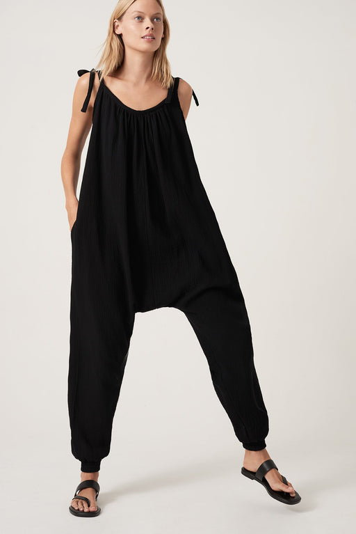 TIE ME UP JUMPSUIT BLACK