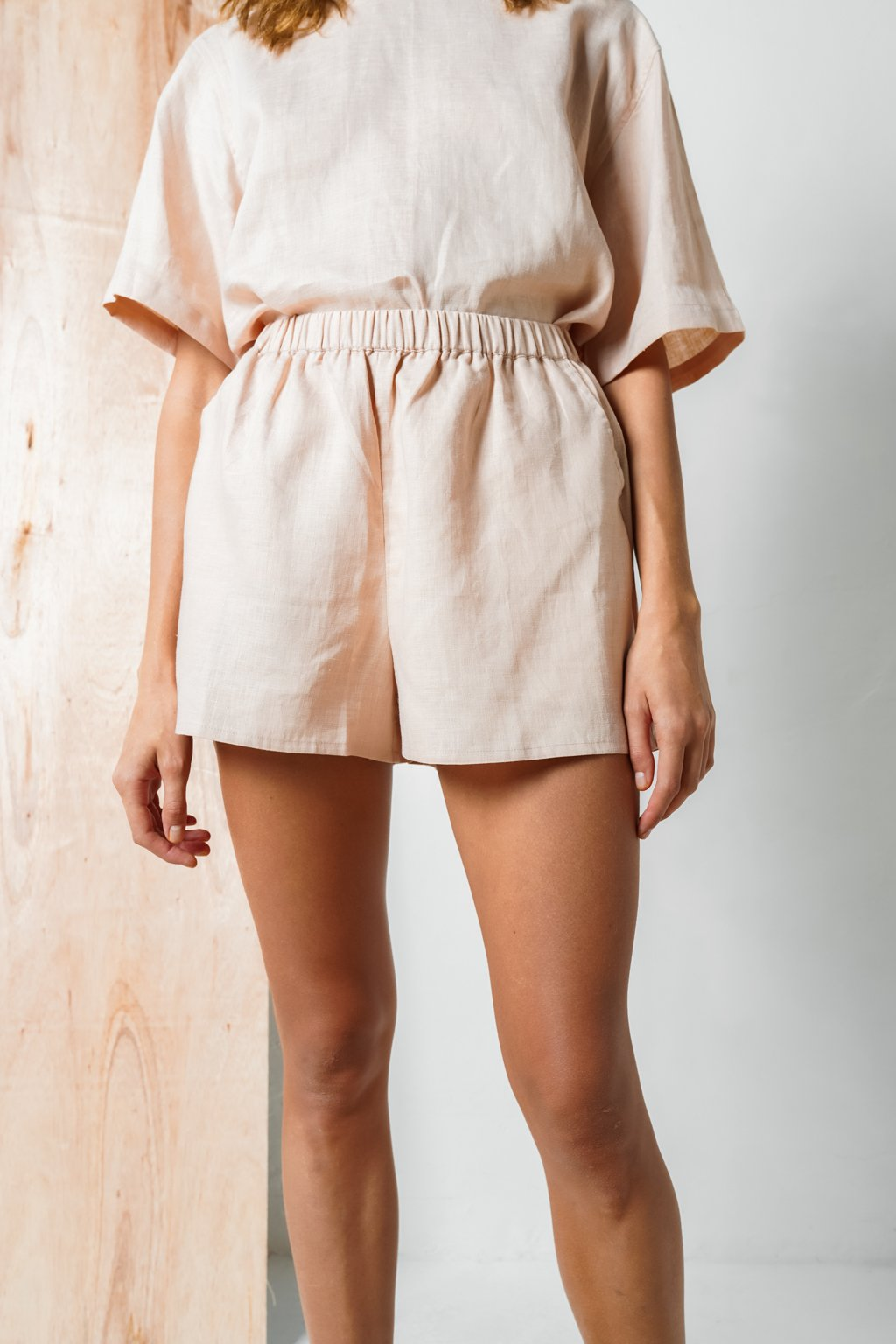 Comfort Linen Short In Blush