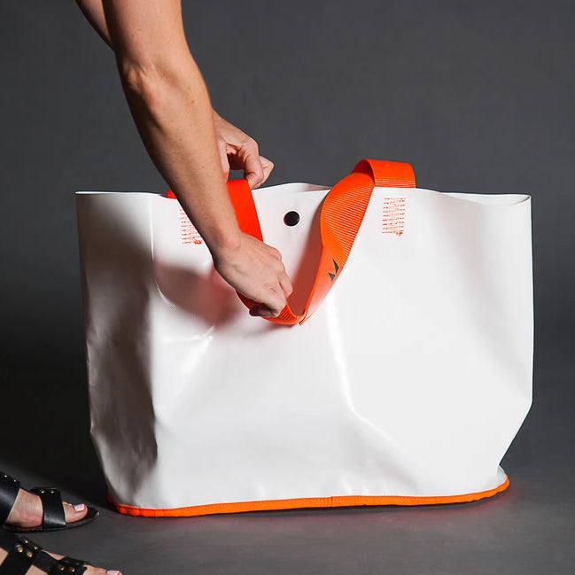 ITEMM BEACH BAG WHITE AND ORANGE
