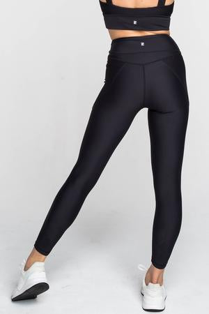 VIPER 7/8 LEGGING | BLACK RIB