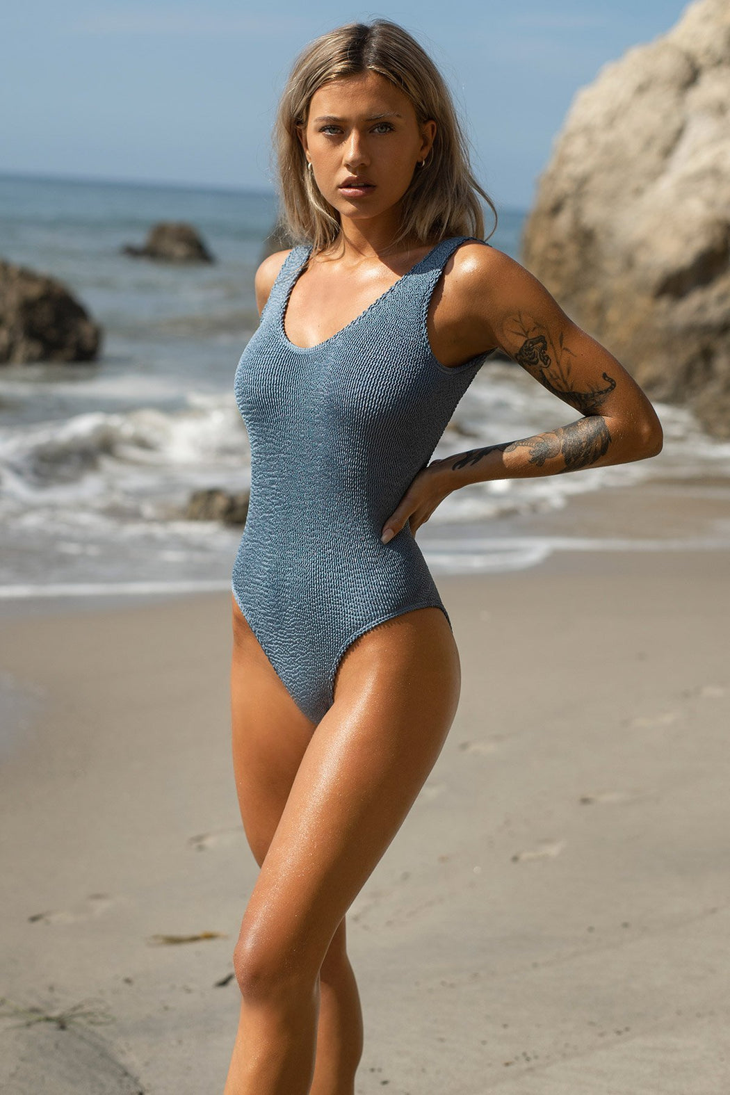 THE MARA ONE PIECE BLUE STEEL