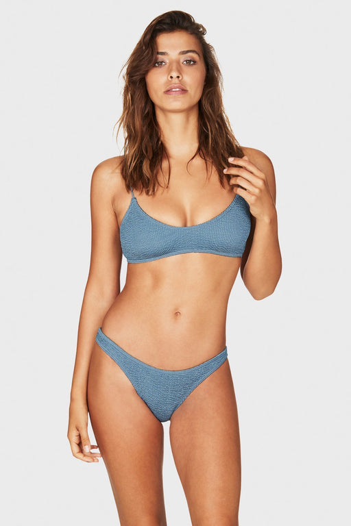 THE SELENA BIKINI TOP BLUE STEEL