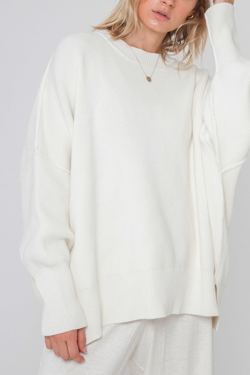 HARPER ORGANIC KNIT SWEATER | CREAM