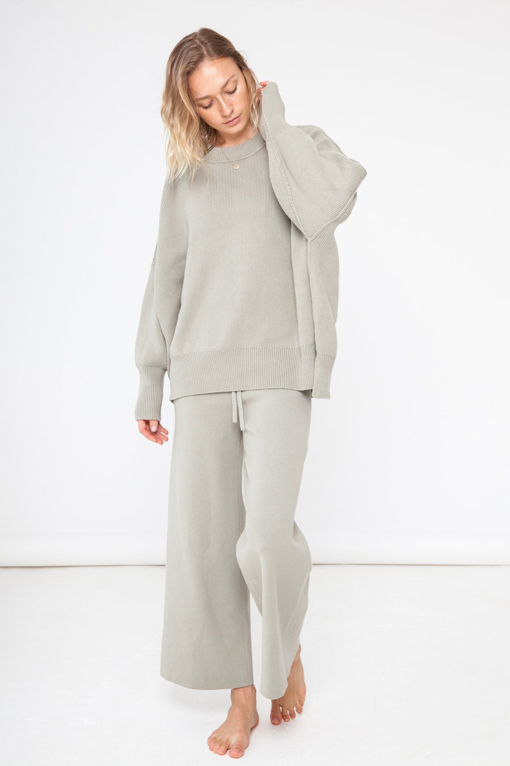 HARPER ORGANIC KNIT SWEATER | SAGE