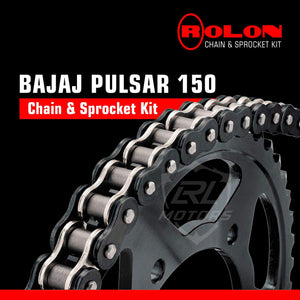 Bajaj Pulsar 150 Rolon chain & Sprocket Kit - LRL Motors