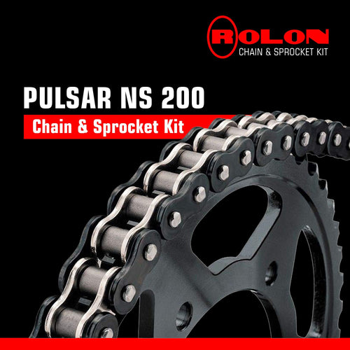 Bajaj Pulsar NS 200 Rolon Chain & Sprocket Kit - LRL Motors