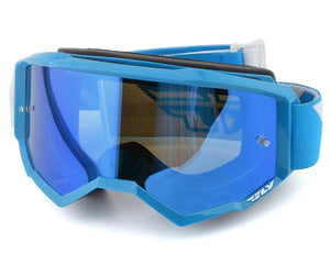 Fly Racing Zone Goggle (Blue) (Sky Blue Mirror Lens) - LRL Motors
