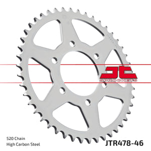 JT REAR SPROCKET JTR478.46ZBK NINJA 650/VERSYS 650 - LRL Motors