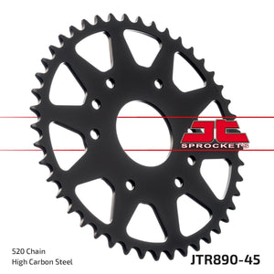 JT REAR SPROCKET JTR890.45ZBK DUKE 390 - LRL Motors