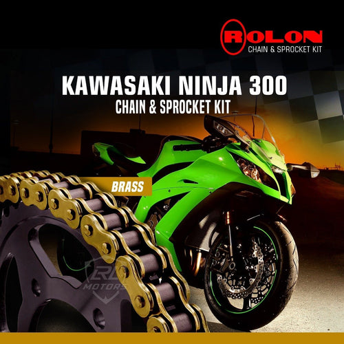 Kawasaki Ninja 300R Rolon Brass Chain & Sprocket Kit - LRL Motors