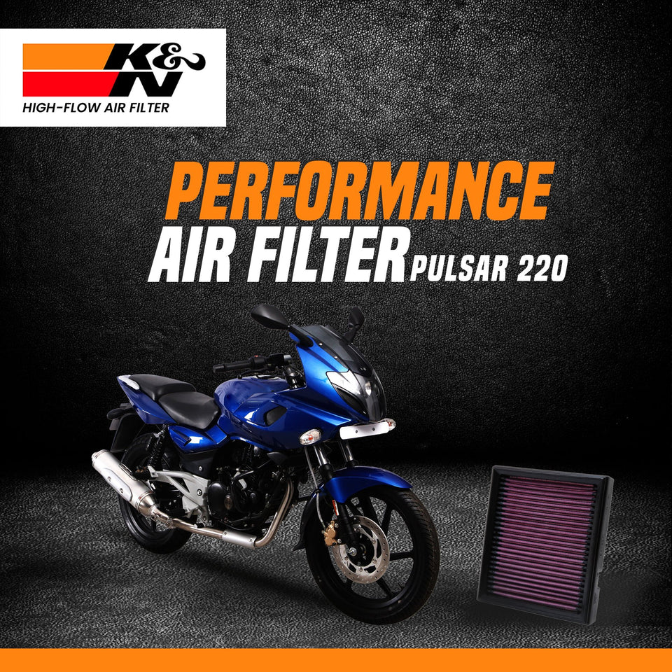 K&N Air Filter Bajaj Pulsar 150/180/220 - LRL Motors
