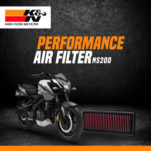 K&N Air Filter Bajaj Pulsar NS 200 - LRL Motors