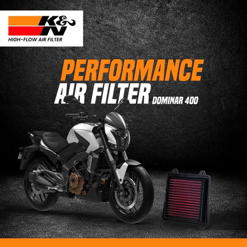K&N Air Filter for Bajaj Dominar - LRL Motors