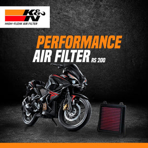 K&N Air Filter for Bajaj RS 200 - LRL Motors