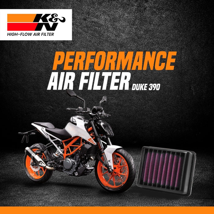 K&N Air Filter KTM DUKE 390 up to 2016 - LRL Motors