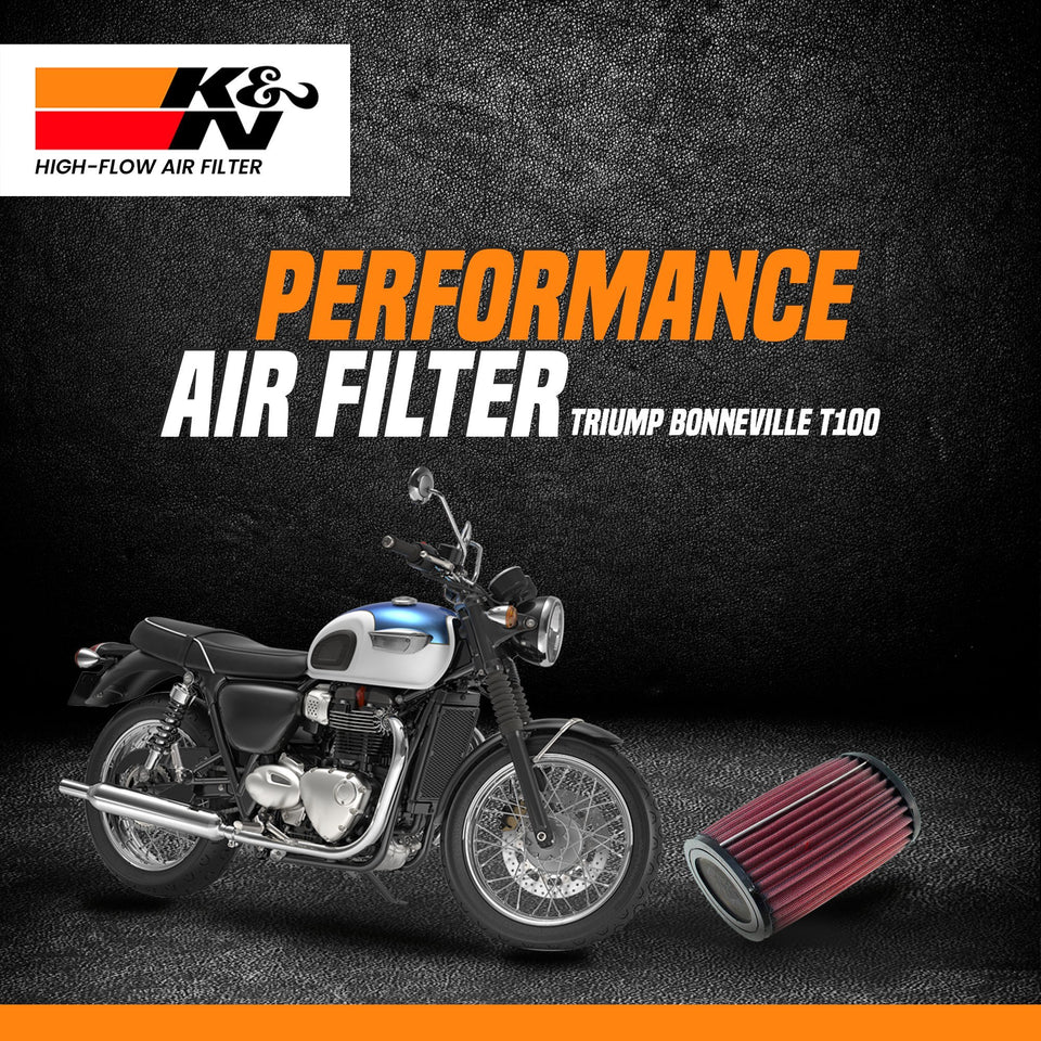 K&N air filter Triumph Bonneville T100 - LRL Motors