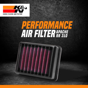 K&N air filter TVS Apache RR 310 - LRL Motors