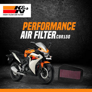 K&N Airfilter for Honda CBR 150 - LRL Motors