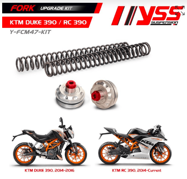 KTM RC 390 YSS Fork upgrade Kit - LRL Motors