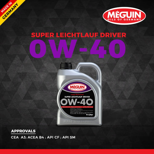 Meguin 0W40 Car Engine Oil 4 L - LRL Motors