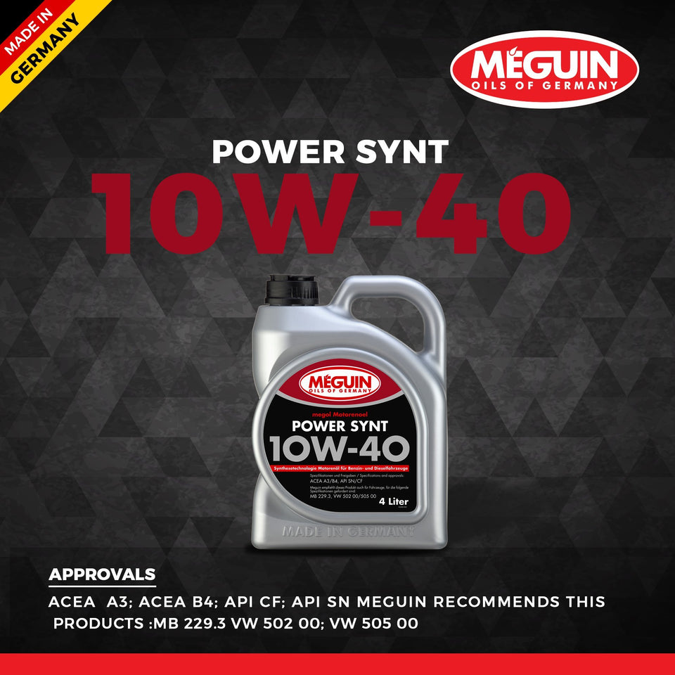 Meguin 10W40 Car Engine Oil 4 L - LRL Motors