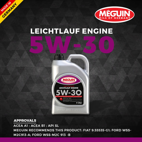 Meguin 5W30 Car Engine Oil 5 L - LRL Motors