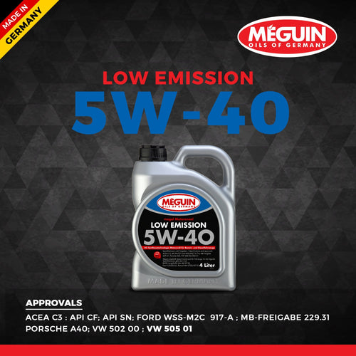 Meguin 5W40 Low Emission 1L ( VW 505 01 ) - LRL Motors