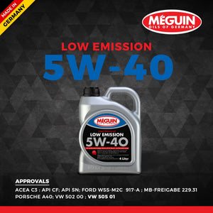 Meguin 5W40 Low emission Car Engine Oil 4 L - LRL Motors