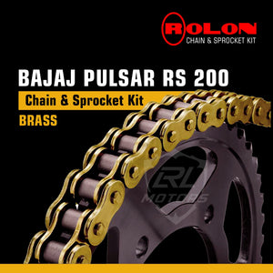 Pulsar RS 200 Rolon Brass chain & Sprocket Kit - LRL Motors