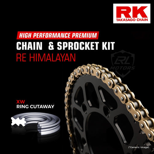Royal Enfield Himalayan Brass Chain Kit ( RK Japan) - LRL Motors
