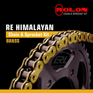 Royal Enfield Himalayan Rolon Brass Chain & Sprocket Kit - LRL Motors