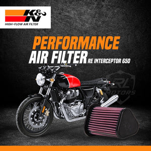 Royal Enfield Interceptor K&N Air Filter - LRL Motors