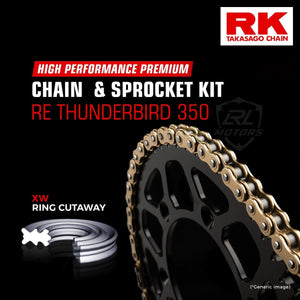 Royal Enfield Thunderbird 350 Brass Chain Kit ( RK Japan) - LRL Motors