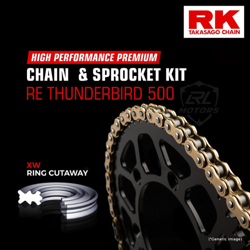 Royal Enfield Thunderbird 500 Brass Chain Kit ( RK Japan) - LRL Motors