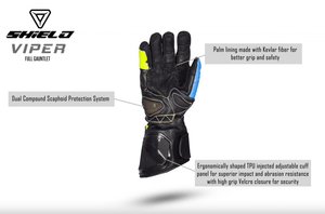 SHIELD Viper Full Gauntlet Gloves - LRL Motors