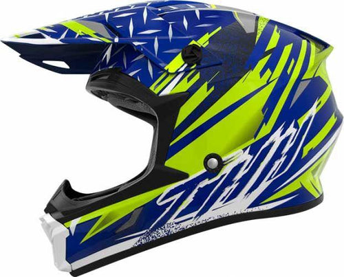 THH HELMETS - T710X ASSAULT BLUE YELLOW - LRL Motors