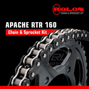 TVS Apache RTR 160 Rolon chain & Sprocket Kit - LRL Motors