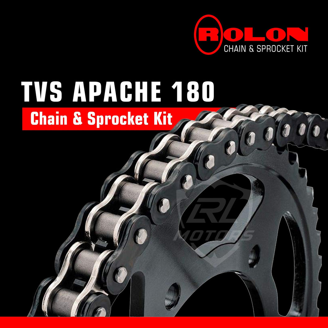 TVS Apache RTR 180 Rolon chain & Sprocket Kit - LRL Motors