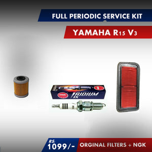 Yamaha R15 V1 full periodic service kit - LRL Motors