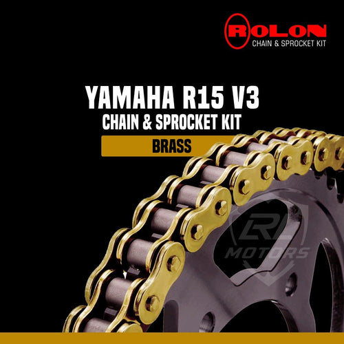 Yamaha R15 V3 Rolon Brass chain sprocket kit - LRL Motors