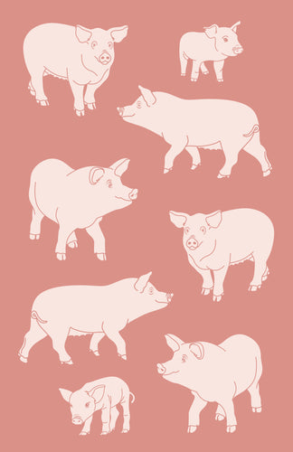 Tea Towel - Pig