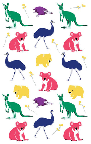 Tea Towel - Australian Animals