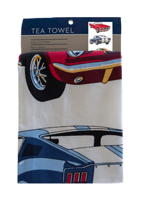 Tea Towel - Classic Cars Mustangs