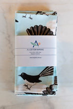 Cotton Napkins - Willie Wagtail (Set of 4) - Allgifts Australia