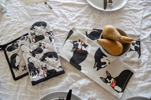 Oven Glove & Pot Holder Set - Farm Dogs