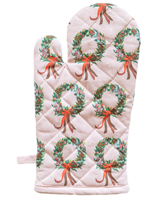 Oven Glove & Pot Holder Set - Xmas Wreath