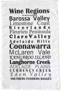Tea Towel - SA Wine Regions